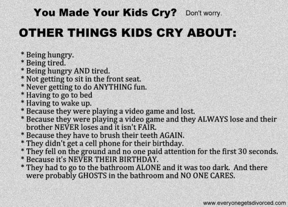 why kids cry